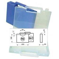 Mallette plastique 222x160x39mm translucide