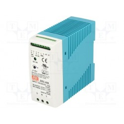 Alimentation chargeur rail-din Mean-Well 40W 90/264Vac - 27,6Vdc