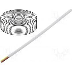 Câble plat AWG26 4cdts RJ9/11 ivoire