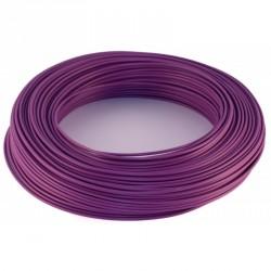 100m fil de cablage souple 0,75mm² violet