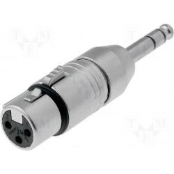 Adaptateur Neutrik XLR 3 broches femelle / jack 6,35mm stéréo mâle
