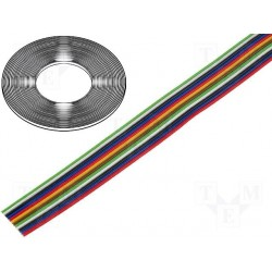 cable souple 0,22mm² en nappe 12 conducteurs
