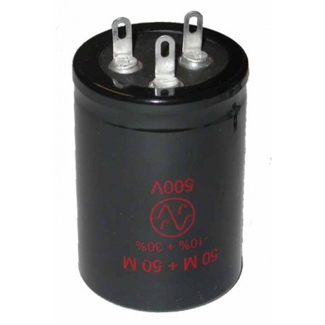 Cond. chimique 85° 2x50µF 500V Ø35x75mm
