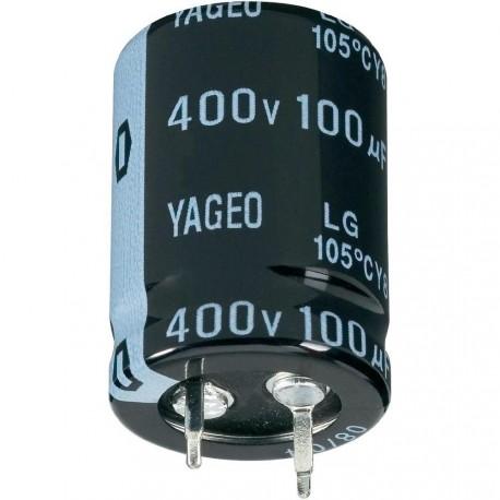 Condensateur snap-in 105° 100µF 400V à˜25x30mm