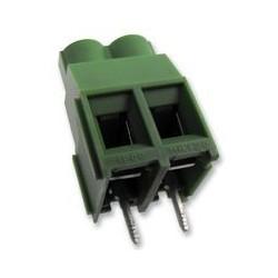 Bornier à cage 2pts au pas de 6,35mm 4mm²