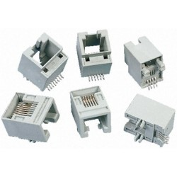 Embase RJ12 CMS coudée pour circuit imprimé