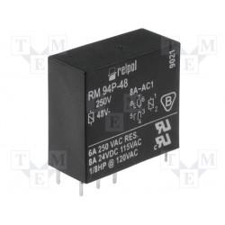 Relais DPDT 2R/T 8Amp. 48Vdc bobine 4400ohms