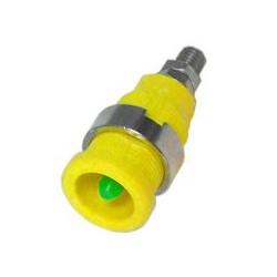 Borne de terre Ø 4mm de sécurité jaune/vert sortie filetée 4mm
