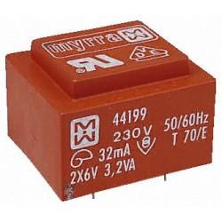 Transformateur moulé 230V / 2x9V 3,2VA