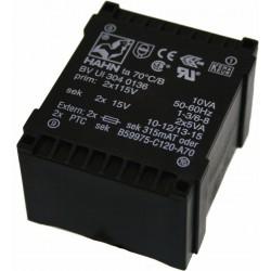 Transformateur moulé 2x115V / 2x12V 14VA
