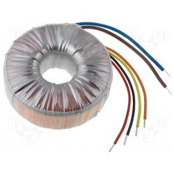 Transformateur torique 230Vac / 2x12Vac 100VA