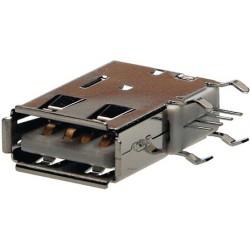 Embase USB type A verticale pour circuit imprimé