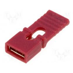 Cavalier de codage à languette au pas de 2,54mm rouge