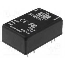 Convertisseur DC/DC Mean-Well 3W 36/72Vdc / +5Vdc 600mA