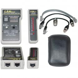 Testeur LAN pour cordons RJ11 / 12 / 45 / BNC