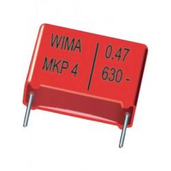 Condensateur métal MKP 1000V 0,1µF pas 22mm