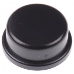 Capuchon rond noir 12mm pour touche