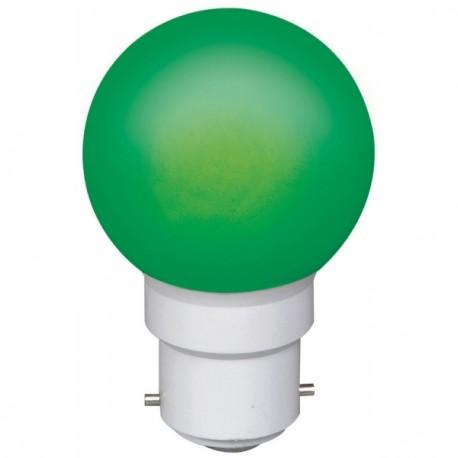 Ampoule à 6 led culot B22 45x70mm 230V verte