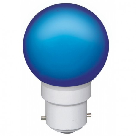 Ampoule à 6 led culot B22 45x70mm 230V bleue