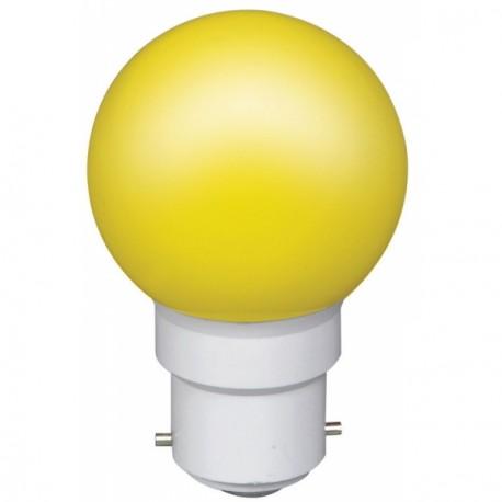Ampoule à 6 led culot B22 45x70mm 230V jaune