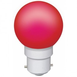 Ampoule à 6 led culot B22 45x70mm 230V rouge