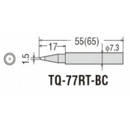 Panne pour fer à souder Goot TQ77 et 95 conique 1,5mm