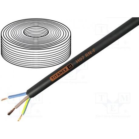 Câble gainé H07 RN-F caoutchouc souple 3x2,5mm² noir