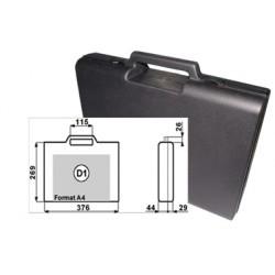 Mallette noire plastique 376x269x73mm