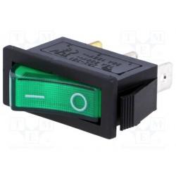 Inter à bascule unipolaire lumineux 230V vert
