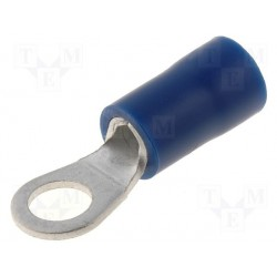 Cosse à oeil bleue 4mm à sertir