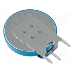 Pile lithium bouton 20mm 3V 230mA pour circuit imprimé verticale 3 points