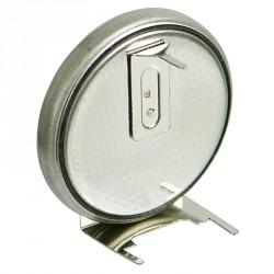 Pile lithium bouton 20mm 3V 230mA pour circuit imprimé horizontale 3 points