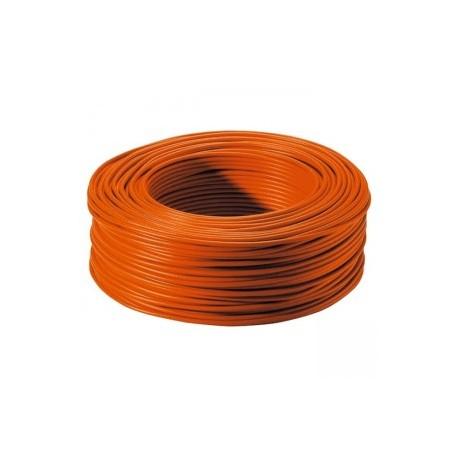 Bobine de 100m de fil de câblage souple section 1mm² orange