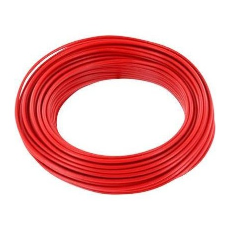 Bobine de 100m de fil de câblage souple section 1mm² rouge
