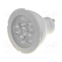 Ampoule GU10 230Vac 6 led blanc chaud 5,5W 36°