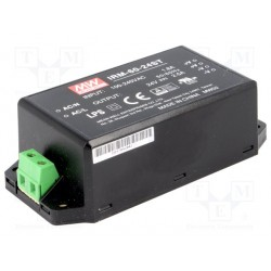 Convertisseur Mean-Well 60W - 85 à 264Vac / 24Vdc 2,5Amp raccordements par borniers