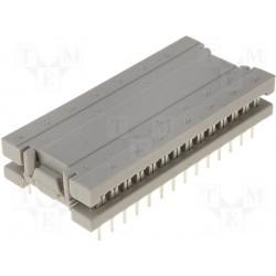 Connecteur dil à sertir au pas de 2,54mm 28pts largeur 15,24mm