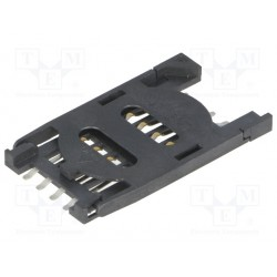 Support de carte SIM à clapet 8 contacts 29,7x17,2x2,3mm