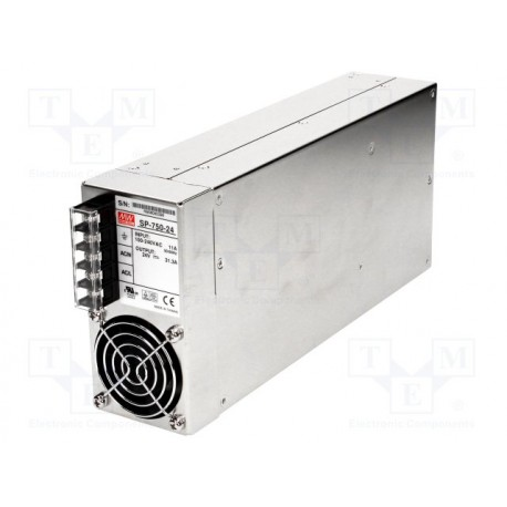Alimentation Mean-Well 90/264Vac -750W - 24Vdc - 31,3Amp.