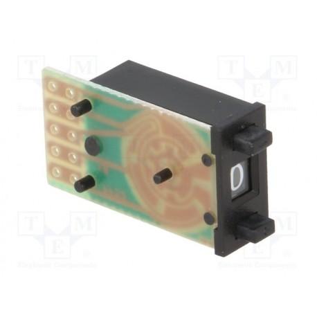 Roue codeuse à codage BCD à poussoir 14 x 7,62mm