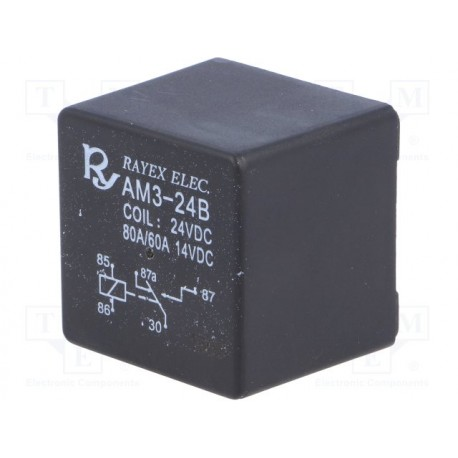 Relais de puissance 1R/T SPDT 24Vdc 60Amp. 288ohms