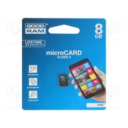 Carte mémoire Micro SD-HC GoodRam 8Gb classe 4