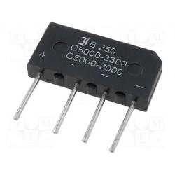 Pont de diode en ligne 5Amp. 400V