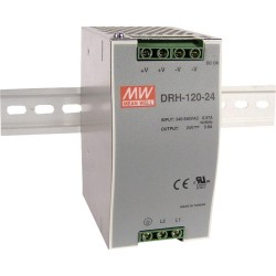 Alimentation Mean-Well pour rail-din 120W - 340/550Vac - 24Vdc - 5Amp.