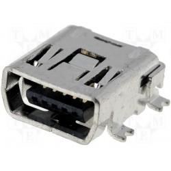 Embase mini USB CMS 5pts type C