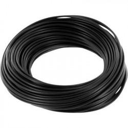 Bobine de 100m de fil de câblage souple section 0,5mm² noir