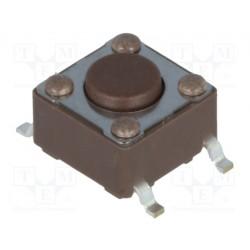 Touche contact CMS N/O pour circuit imprimé hauteur 4,3mm