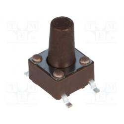 Touche contact CMS N/O pour circuit imprimé hauteur 9,5mm