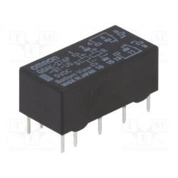 Relais Omron type G6AK bistable 2R/T DPDT 2Amp. 139ohms 5Vdc G6AK-274P-ST-US-5DC