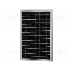 Panneau solaire polycristallin 17V 20W 505x353x25mm